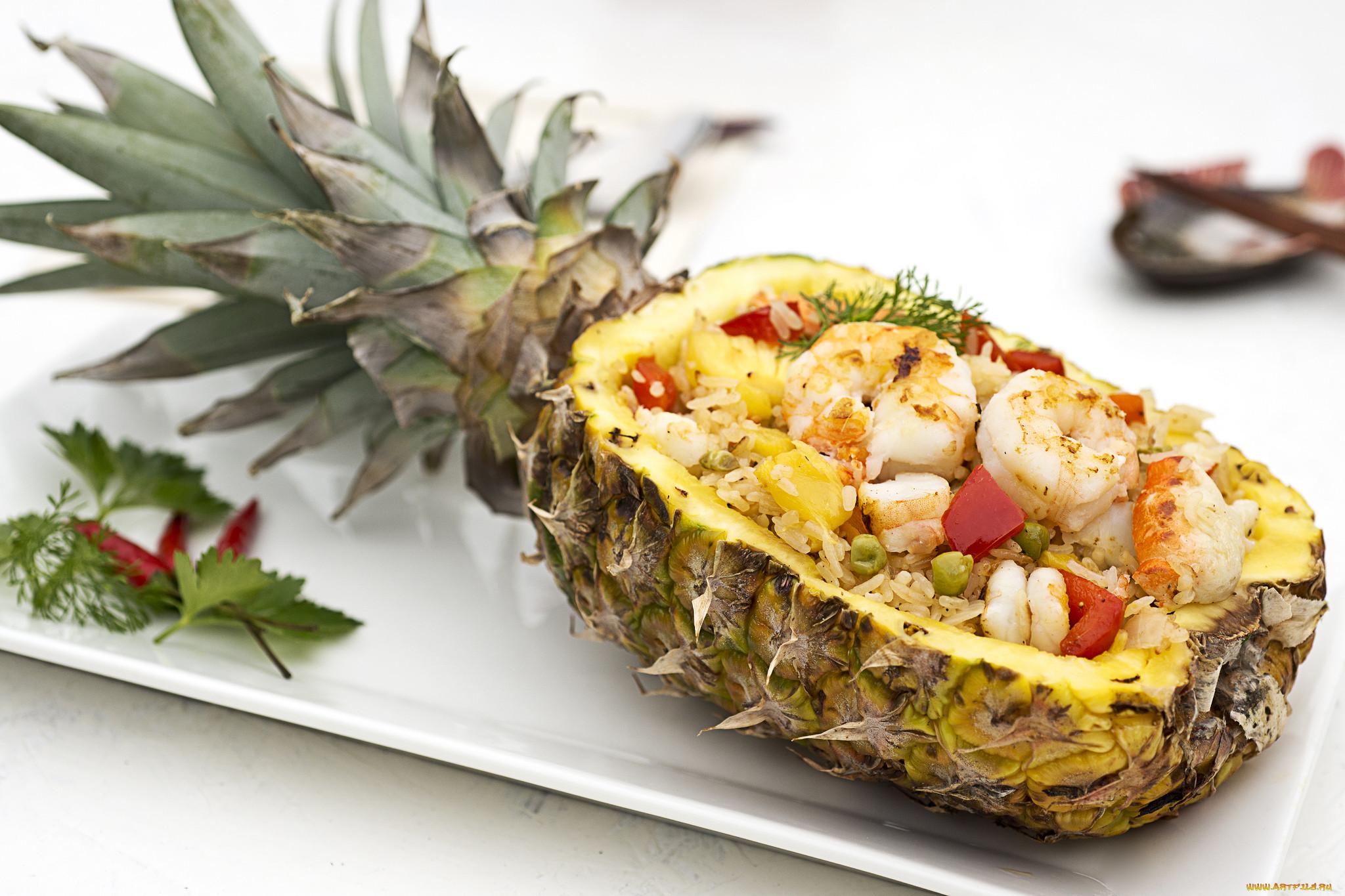 салат в ананасе рецепт с фото тайский стала еще более